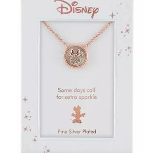 Minnie Mouse Mother-of-Pearl Pendant Necklace in F